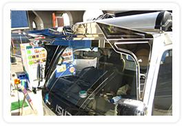 トラック用フロントバイザー